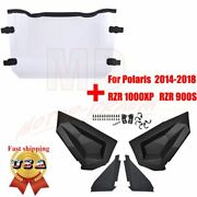 Lower Door Inserts Panels And Windshield For Polaris Rzr S 900 Xp 1000 Turbo 14-20
