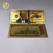500pcs American Trump Gold Banknote 1000000 Dollar Banknote Card For Collection