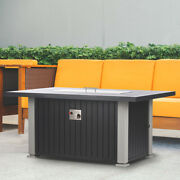 Ev Fires 52 Classic Grey Propane Outdoor Firepit Table Cover And Lid Included