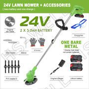 24v Cordless Yard Grass Trimmer Electric Trimmer Lawn Cutter Mower Weed Machine