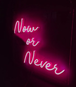 Neon Sign Led Light Now Or Never Wall Room Decor Party Bar Game Pub Art Home Man