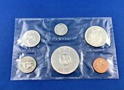1964 Canadian Silver Dollar Charlottetown Quebec Six Coin Set Uncirculated