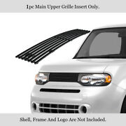 Fits 2009-2014 Nissan Cube Main Upper Stainless Black Horizontal Billet Grille