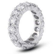 3ct Tw I Si2 Round Cut Natural Certified Diamonds 18k Gold Classic Eternity Ring