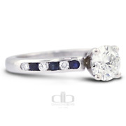 1.93 Ct H/si2 Round Natural Certified Diamonds 14k Gold Classic Side Stone Ring
