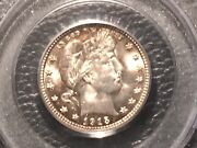 1915-d Barber Quarter Pcgc 64 Unc.old Holder Easily Could Be A 65 Beautiful Gold