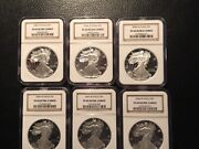 2003-2008 Silver Eagles Proof 69 Ngc Ultra Cameo 6 Coins This Lot