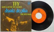 Janis Joplin And039try Just A Little Bit Harder + 1and039 1970 Spanish 7 Vinyl