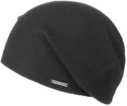 Stetson Slouch Beanie Oversized Longbeanie Knitted Cap Shirley Black Cashmere