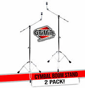 Cymbal Stand With Boom Arm By Griffin 2 Pack   Drum Percussion Gear Hardware