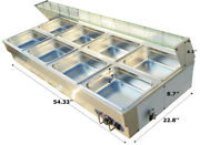 Top Grade 110v 8-pan Commercial Stainless Steel Bain-marie Buffet Food Warmer
