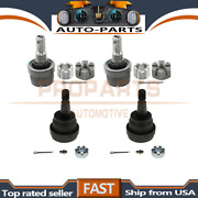 Moog 4pcs Lower+upper Suspension Ball Joint Front For 1984-1989 Jeep Cherokee_pr