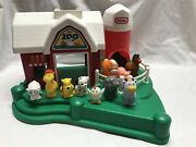 Little Tikes Zoo Farm Barn Stable Silo And 10 Animals Vintage