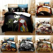The Nightmare Before Christmas Comforter Cover Bedding Set 3pcs Pillowcases Gift