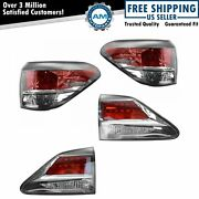 Taillamp Taillight Housing Inner Outer Lh Rh Kit Set Of 4 For Lexus Rx350 Rx450h