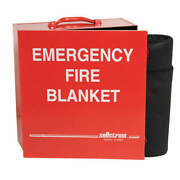 Sellstrom S97456 Fire Blanket And Cabinet,carbon Felt