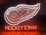New Detroit Red Wings Hockey Town Bar Light Lamp Neon Sign 24x20