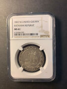 Netherlands East Indies 1 Gulden 1802 Toned Uncirculated Ngc Ms61