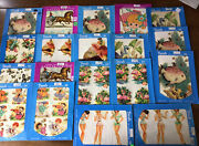 Vintage Meyercord Decals Lot Of 20 Sheets From 1950s-1970s Decorating