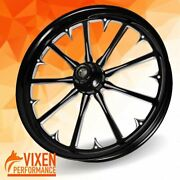 23 X 3.75 Radiant Contrast Wheel Front Tire - Black - 2000-2020 Harley Touring