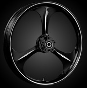 21 X 3.5andrdquo Front Amp Black Cut Front Wheel Rotors Tire - Harley Touring Bagger