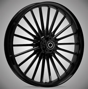 """Pulse Blackline 21x 3.5"""" Front And Rear Wheels - 2000-2020 Harley Touring Bagger"""