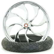 Turbo Chrome 23 X 3.75 Front Wheel And Tire - 2000-2020 Harley Touring Softail