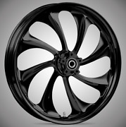 """Twisted Blackline 21x 3.5"""" Front And Rear Wheels - 2000-20 Harley Touring Bagger"""