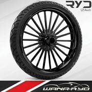 Pulse Black 23 X 3.75 Front Wheel And Tire Package - 2000-2020 Harley Touring