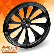 26 X 3.75 Lustrous Wheel Front Tire - Black - 2000-2020 Harley Touring Bagger
