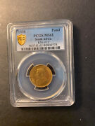 South Africa Paul Kruger Gold Pond 1898 Uncirculated Pcgs Ms61