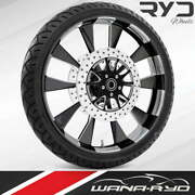 Ryd Wheels Diode Starkline 23 Front Wheel Tire Package Dual Rotors 08-19 Bagger