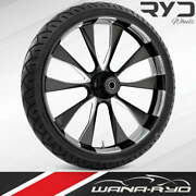 """Ryd Wheels Diode Starkline 23 X 5.0"""" Fat Front Wheel And Tire Package 00-07 Bagger"""