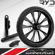 Diode Blackline 21 Fat Front Wheel Single Disk W/ Forks And Caliper 00-07 Bagger