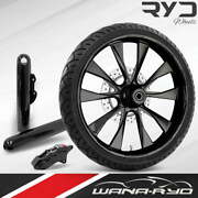 Diode Blackline 23 Fat Front Wheel Single Disk W/ Forks And Caliper 00-07 Bagger