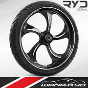 Rollin Starkline 21x5.5 Fat Front Wheel And Tire Package 00-07 Harley Touring
