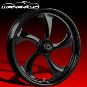 Ryd Wheels Rollin Blackline 21 Fat Front And Rear Wheels Only 2008 Bagger