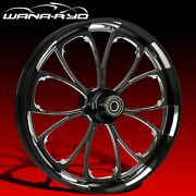 """Ryd Wheels Arc Starkline 23 X 5.0"""" Fat Front Wheel And Tire Package 00-07 Bagger"""