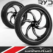 Reactor Starkline 23 Fat Front And Rear Wheels Tires Package 00-07 Bagger