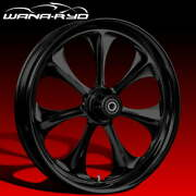 Ryd Wheels Atomic Blackline 23 Front And Rear Wheels Only 00-07 Bagger