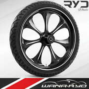 Ryd Wheels Atomic Starkline 23 Fat Front Wheel And Tire Package 08-19 Bagger