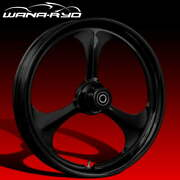Ryd Wheels Amp Blackline 18 Fat Front And Rear Wheels Only 00-07 Bagger