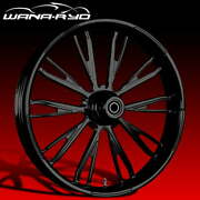"""Resistor Blackline 23 X 5.0"""" Fat Front Wheel And Tire Package 00-07 Bagger"""