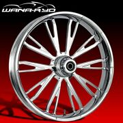 Ryd Wheels Resistor Chrome 26 Front Wheel Tire Package 13 Rotor 00-07 Bagger