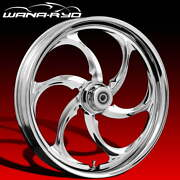 Ryd Wheels Reactor Chrome 18 Fat Front And Rear Wheel Only 09-19 Bagger