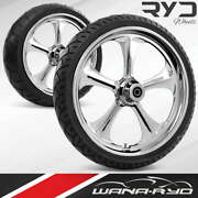Adr235183frwtdd07bag Adrenaline Chrome 23 Fat Front And Rear Wheels Tires Packag