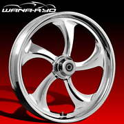 Rollin Chrome 18 Fat Front And Rear Wheels Tires Package 13 Rotor 00-07 Bagger