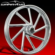 Kinetic Chrome 23 Fat Front And Rear Wheels Tires Package 09-19 Bagger