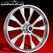 Ryd Wheels Diode Chrome 23 Fat Front And Rear Wheels Only 00-07 Bagger