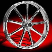 Ryd Wheels Ion Chrome 21 Fat Front And Rear Wheels Tires Package 00-07 Bagger